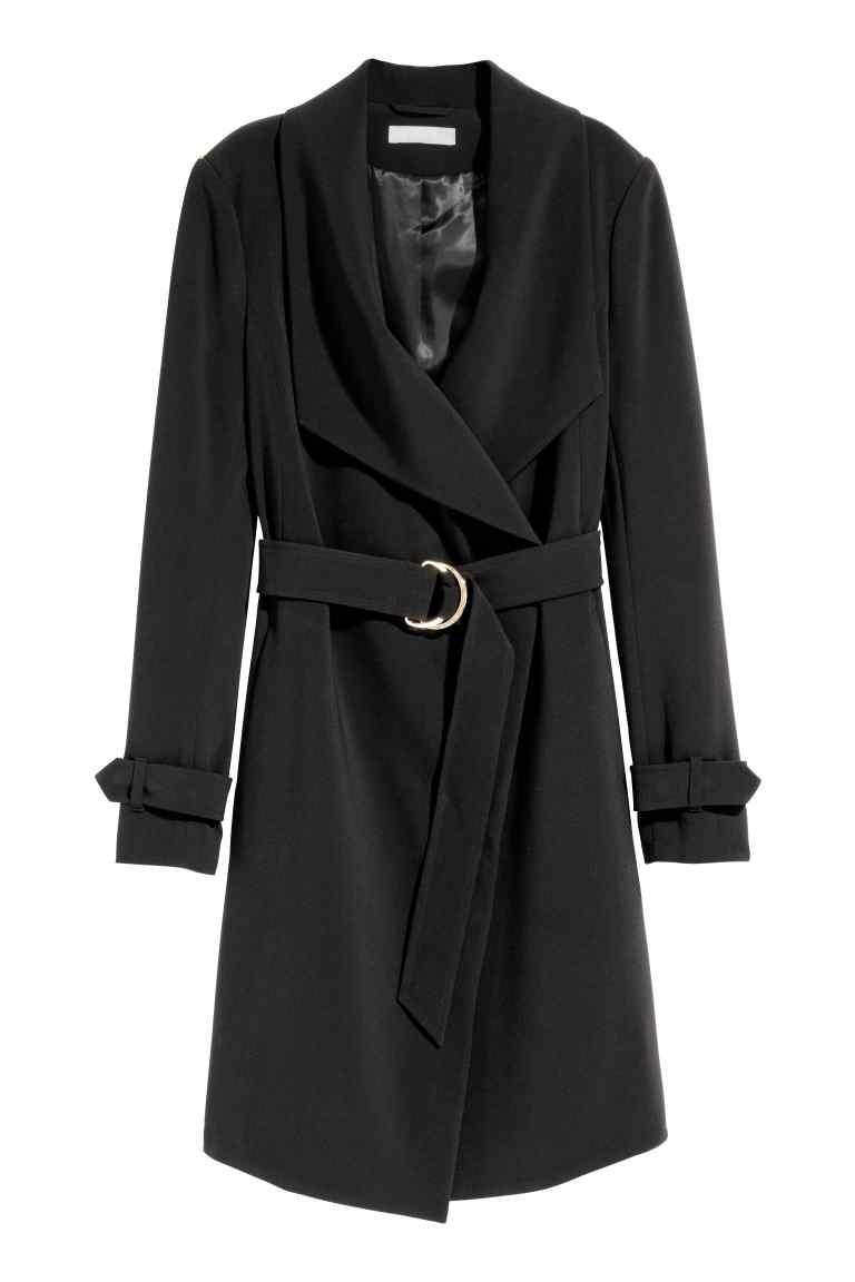 manteau hm drapé