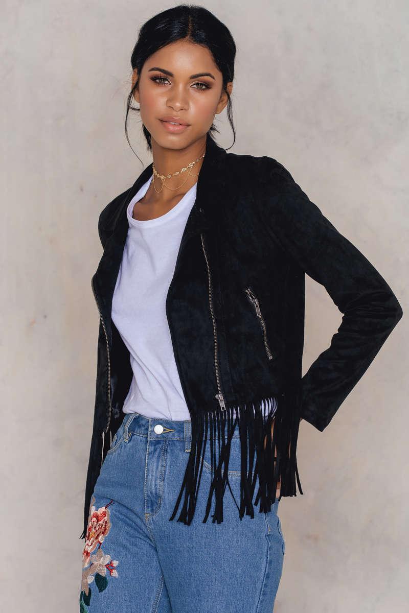 Nakd faux suede jacket