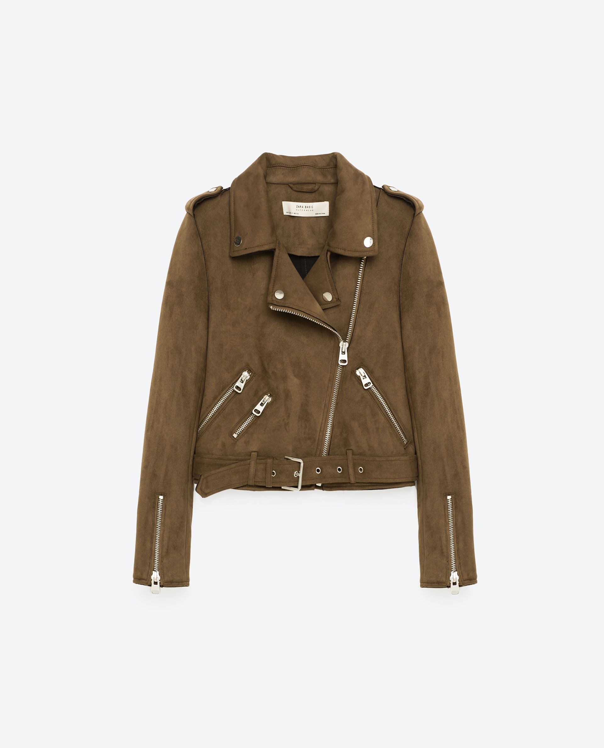 Brown suede moto jacket blog mode