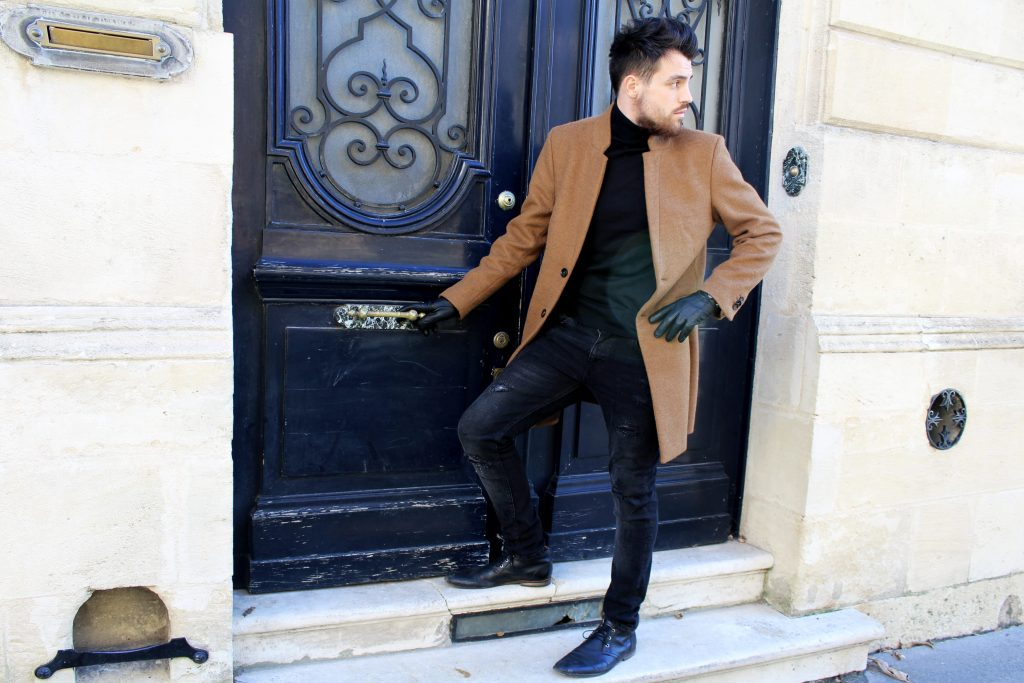 Manteau camel homme the kooples