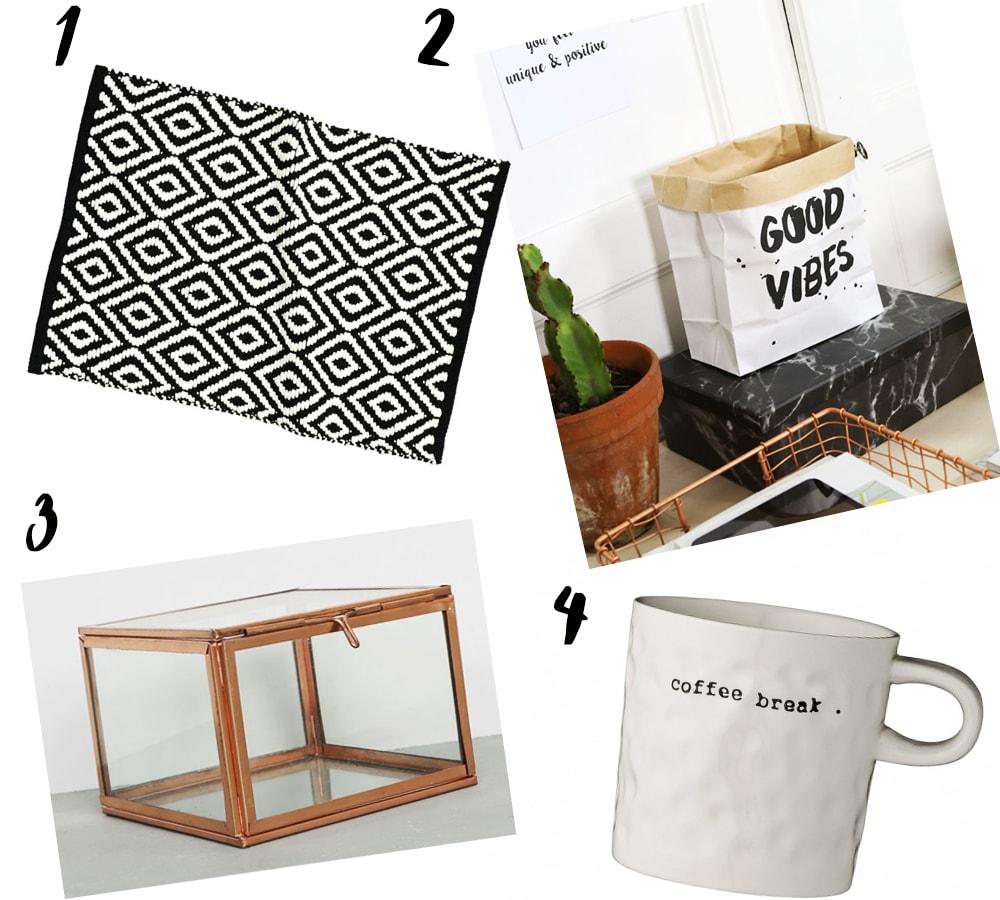 wishlist decoration - Pimkie Home - H&M Home - Monshowroom - La Redoute