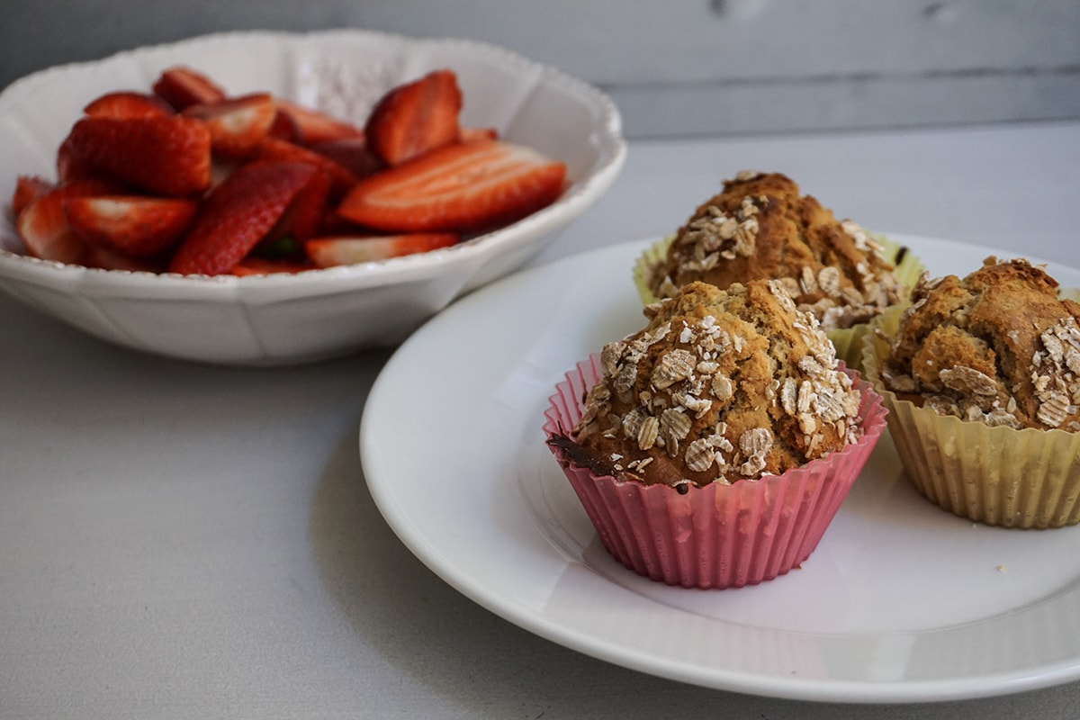 muffins aux flocons d'avoine healthy fitness blog