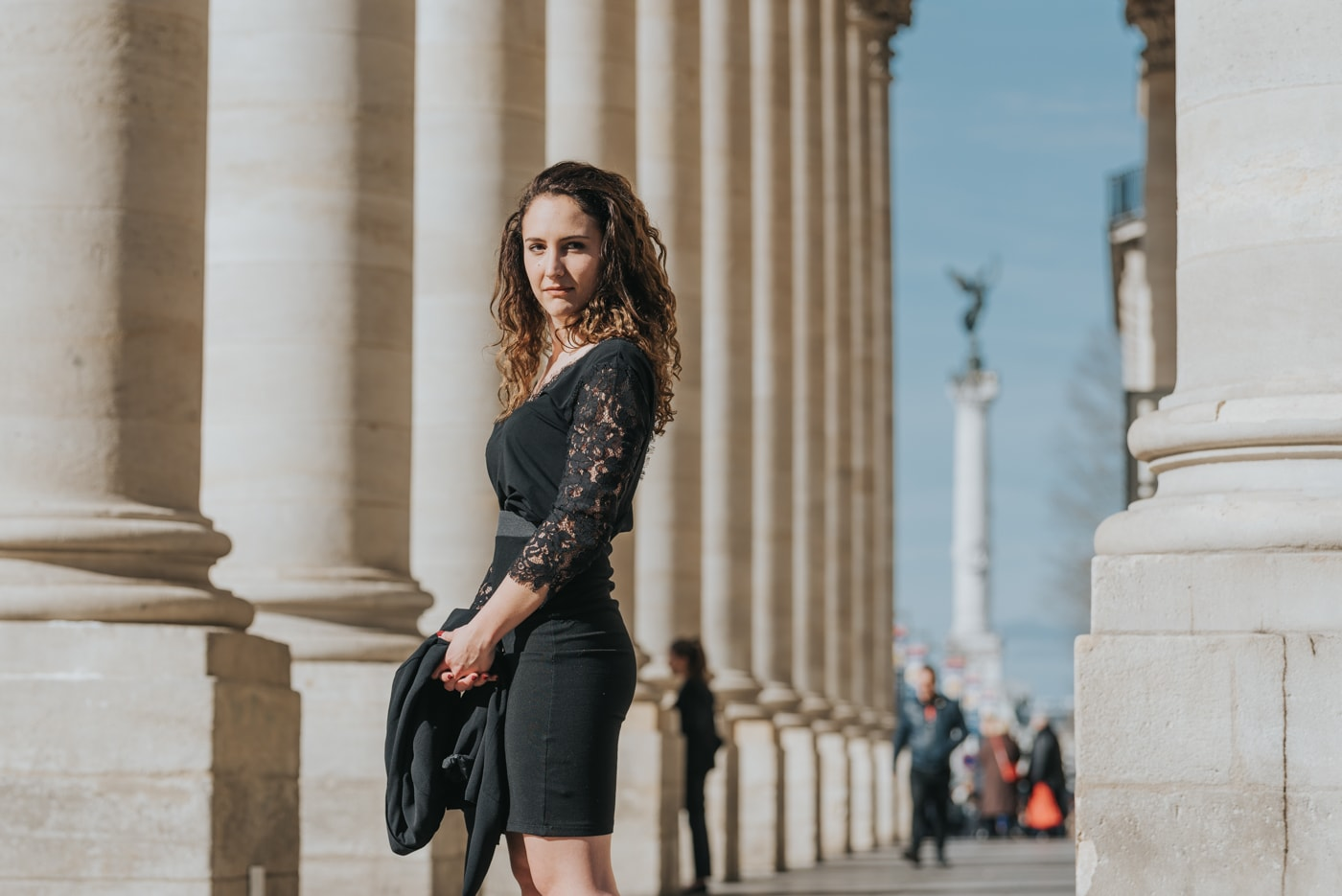 total look black blog mode bordeaux paris