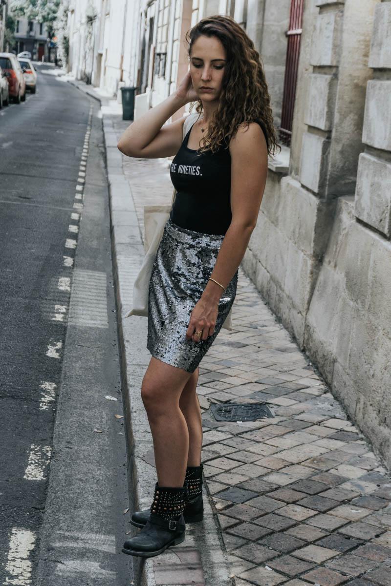 jupe à sequins blog mode paris bordeaux