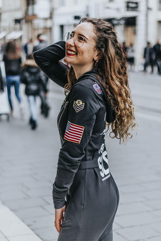 aviator onesie black jumpsuit onepiece blog mode