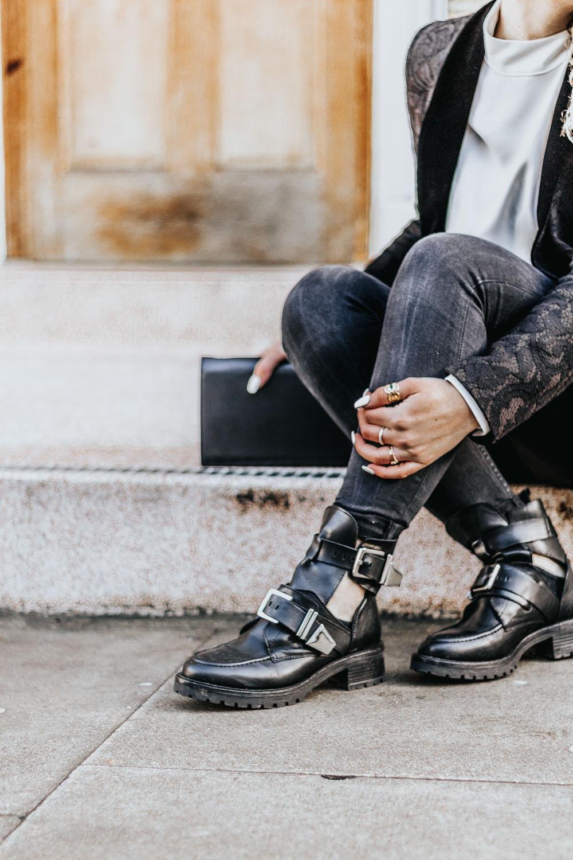 bottines motardes, sacha shoes, blog mode, Bordeaux