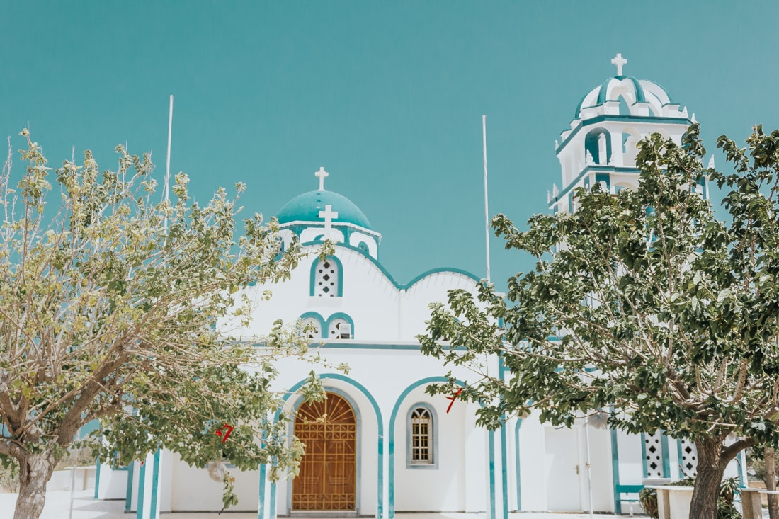 church, Kamari, santorin, Greece, travel, blog