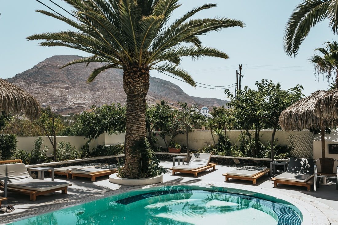 Hermes Hotel, Kamari, Santorini, Greece, blog, travel