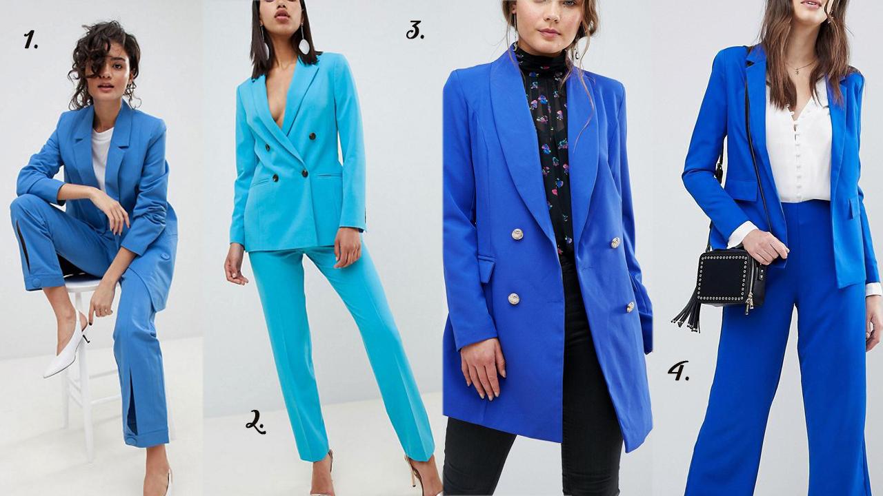 sélection tailleur bleu, blog, mode
