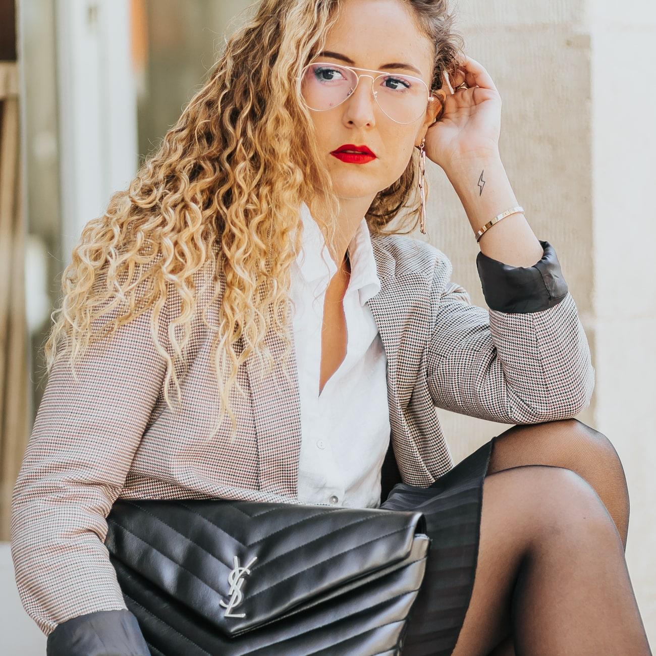 Blazer imprimé Pimkie, Blog mode, Pochette Loulou YSL