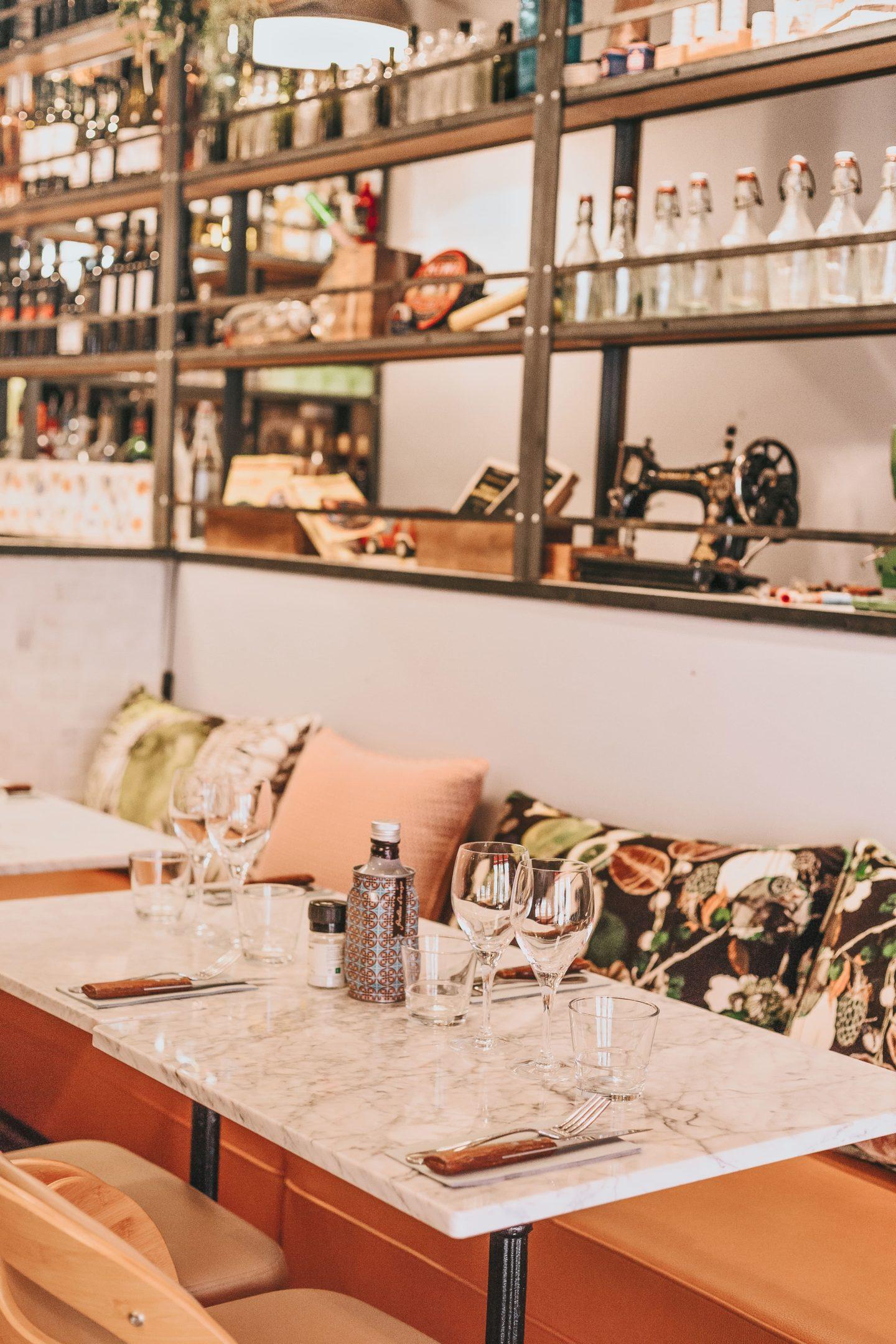 Décoration, banquettes, Valentina, Clan des Mamma, Toulouse, restaurant.