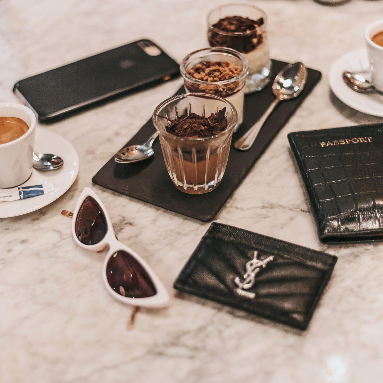 Café gourmand, porte-carte YSL, Toulouse, restaurant.