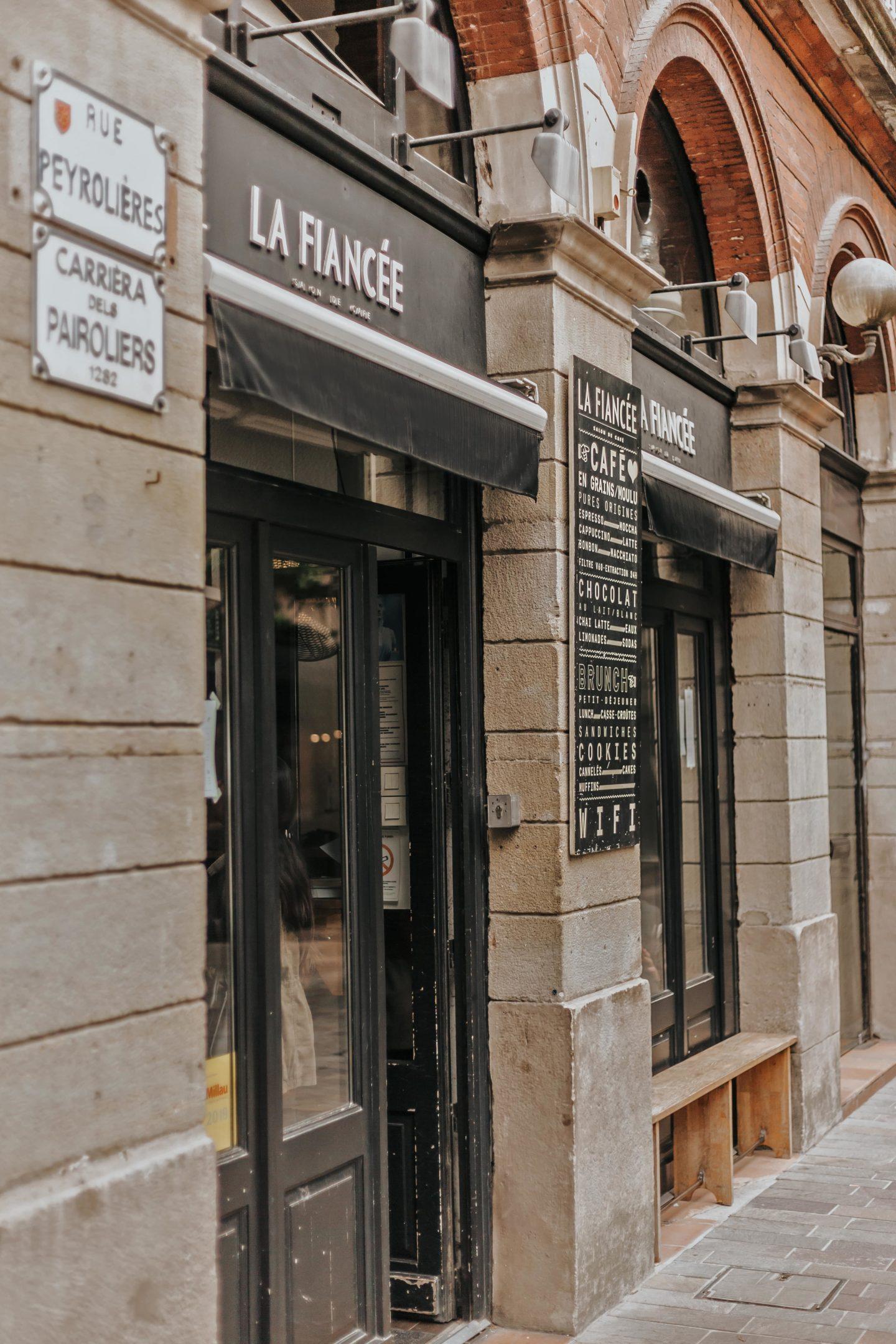 La fiancée, devanture, salon de thé, Toulouse.