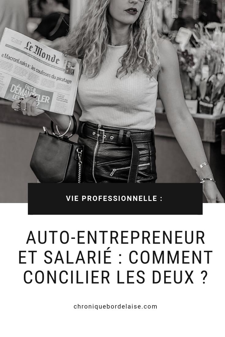 Auto-entrepreneur et salarié : comment concilier les deux ?