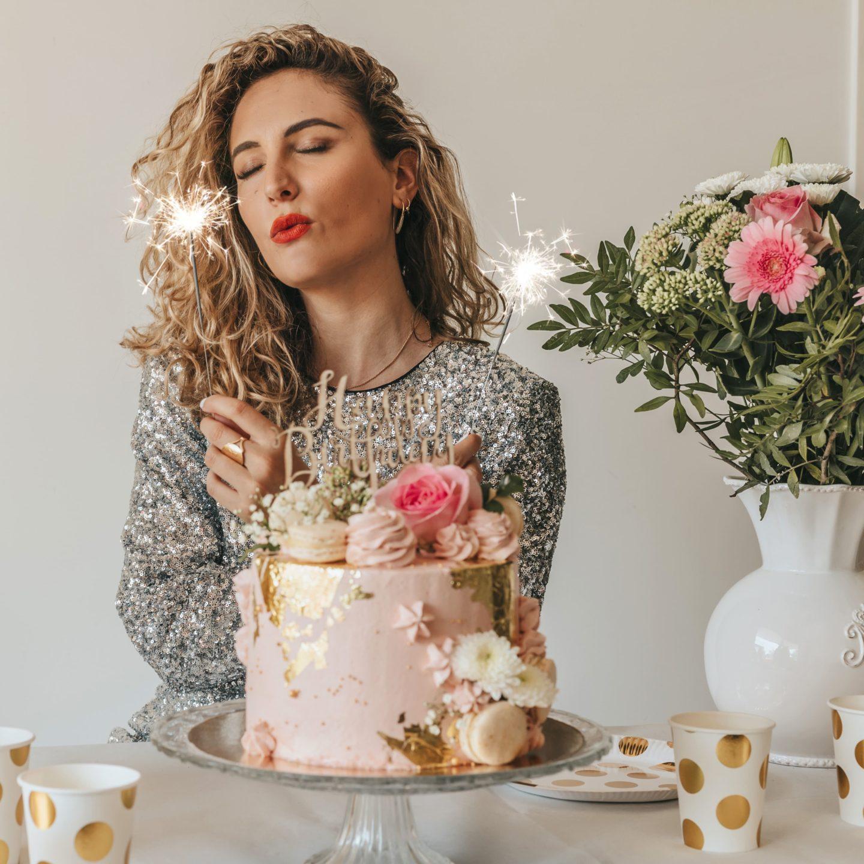 étincelle, gâteau anniversaire, birthday cake, blog