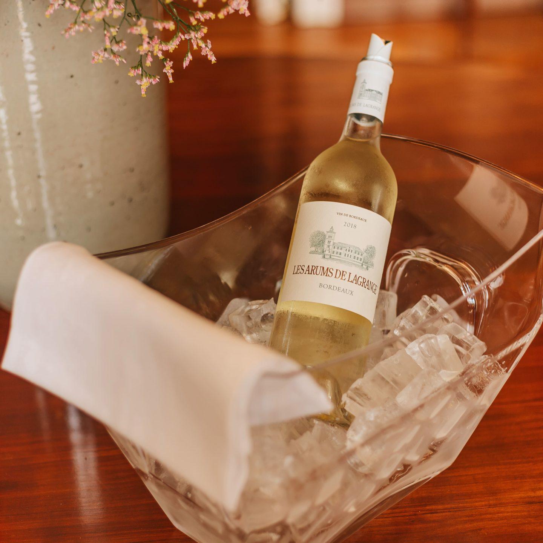 les arums de Lagrange, vin blanc, médoc, millésime 2018.