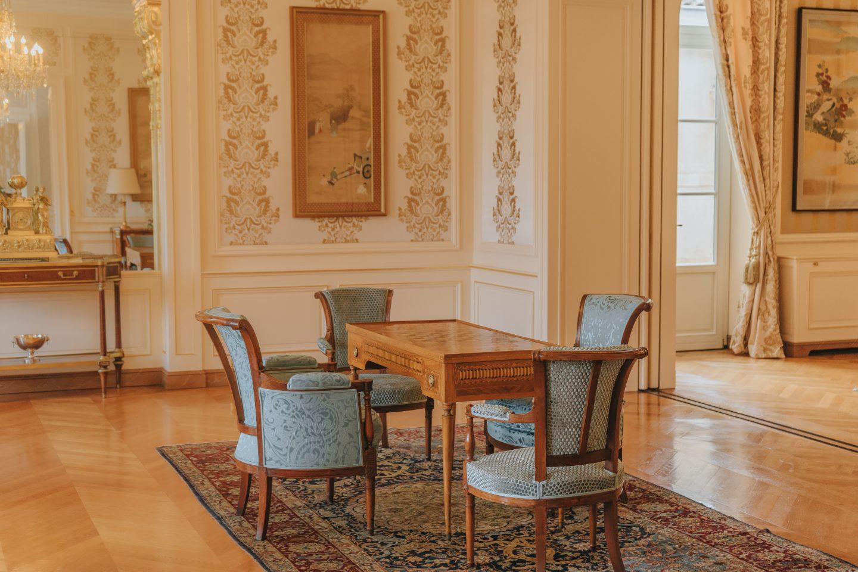 salon du Château Lagrange, décoration.