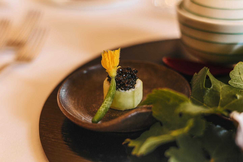 petit sushi de caviar, cuisine, Château Lagrange.