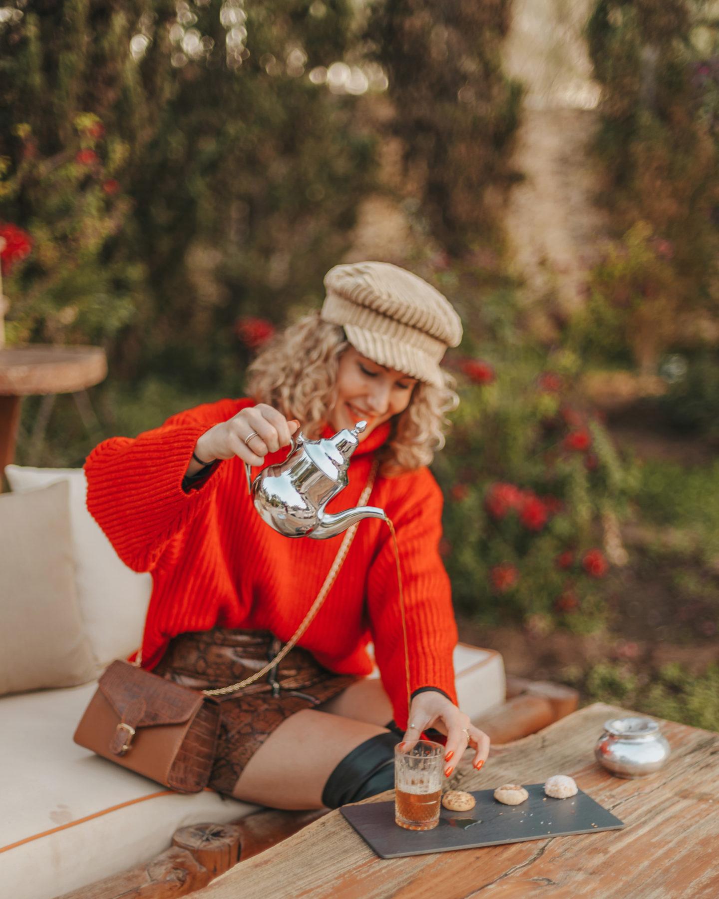 jardin des douars, thé à la menthe, bar extérieur