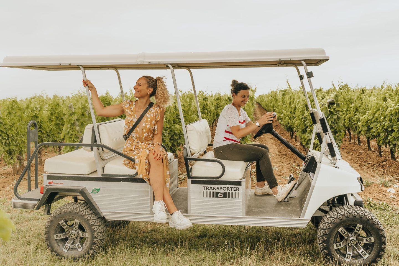 visite, voiturette, vignes, viticole, vin, saint-émilion