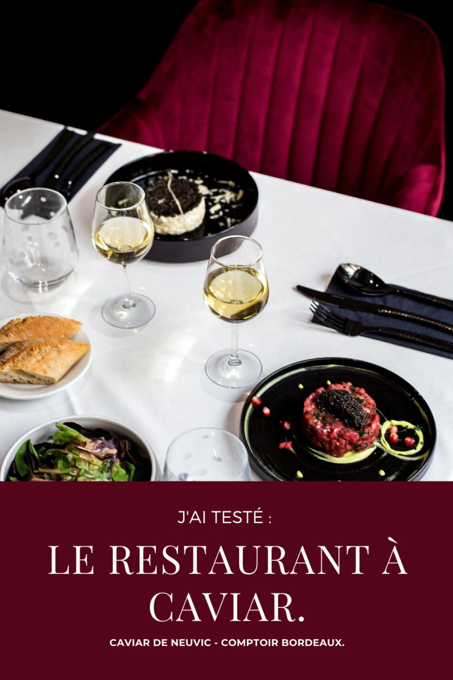 restaurant, caviar de neuvic, avis, bordeaux
