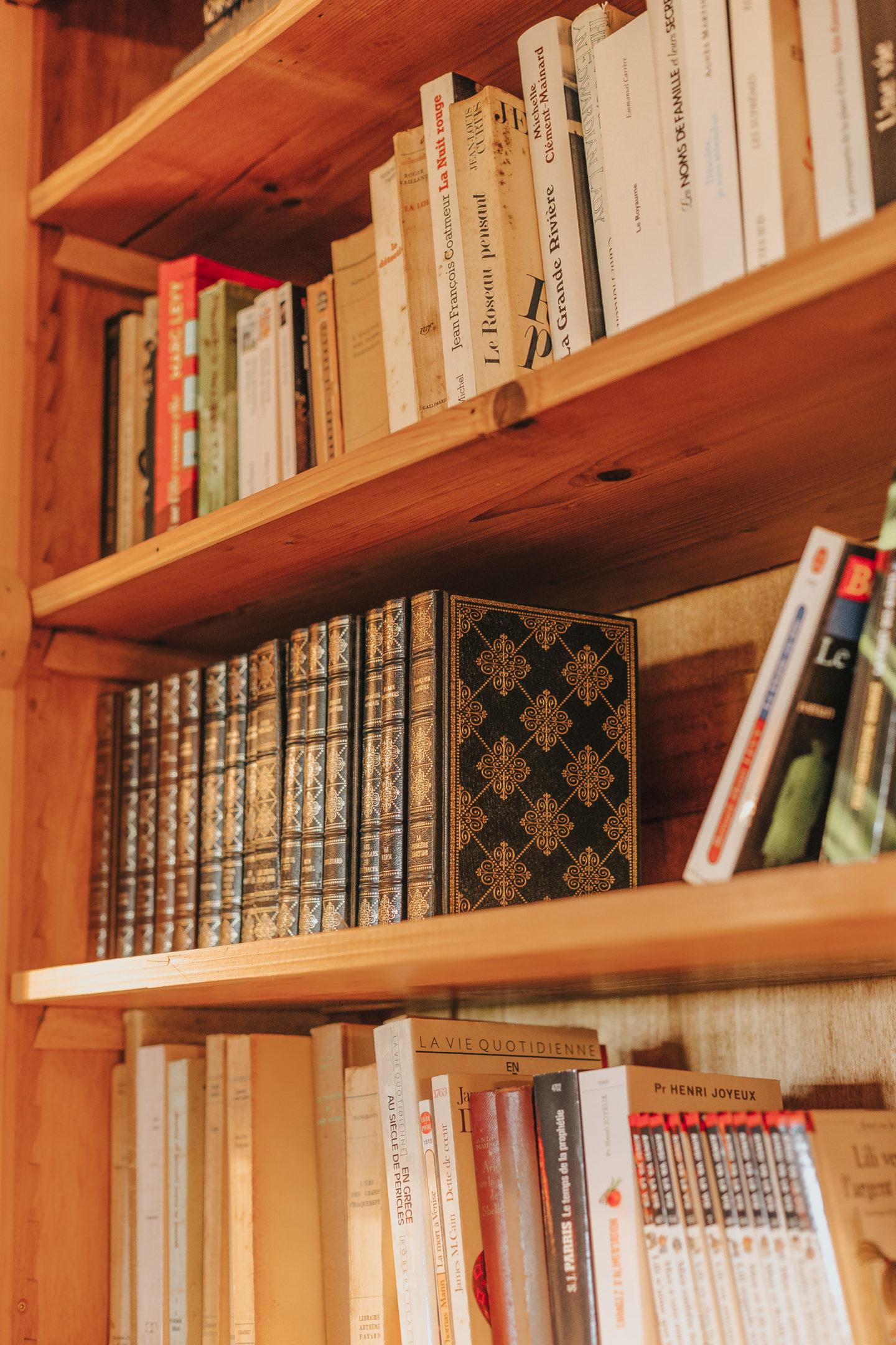 bibliothèque, décoration, intérieur, château
